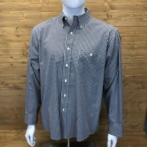 Orvis Long Sleeve Button Down Checker Blue Medium